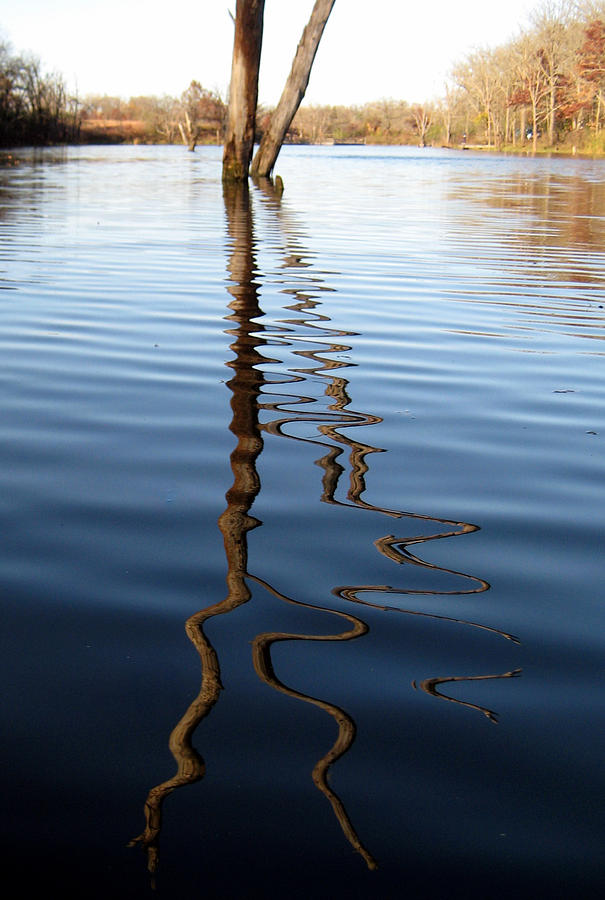 Ripple Photograph - Reflections 1 by Jamie Seul
