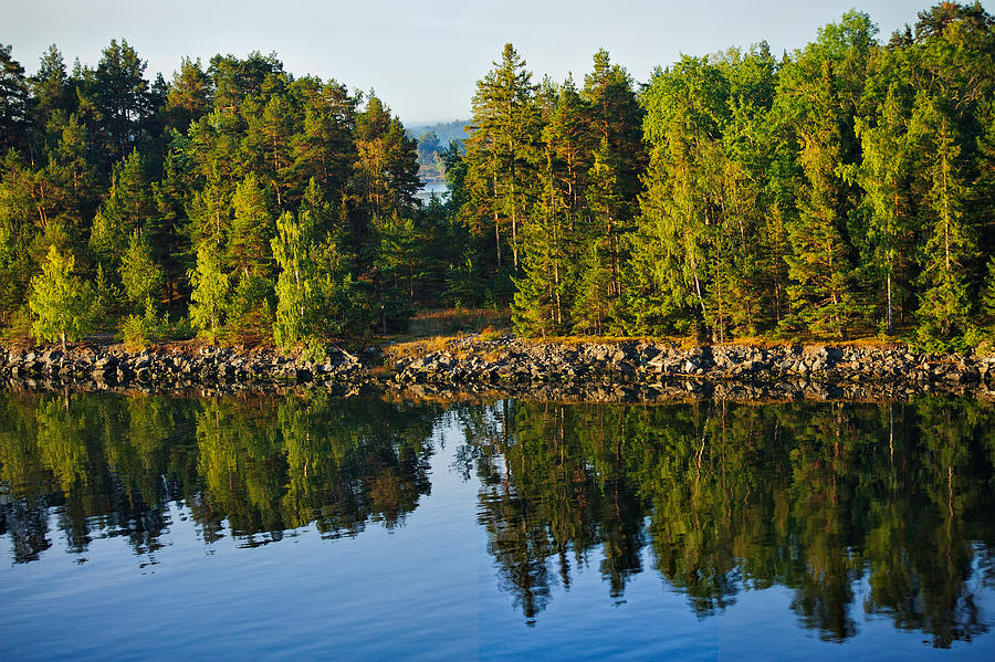 Baltic Photograph - Reflections 1 Sweden by Marianne Campolongo