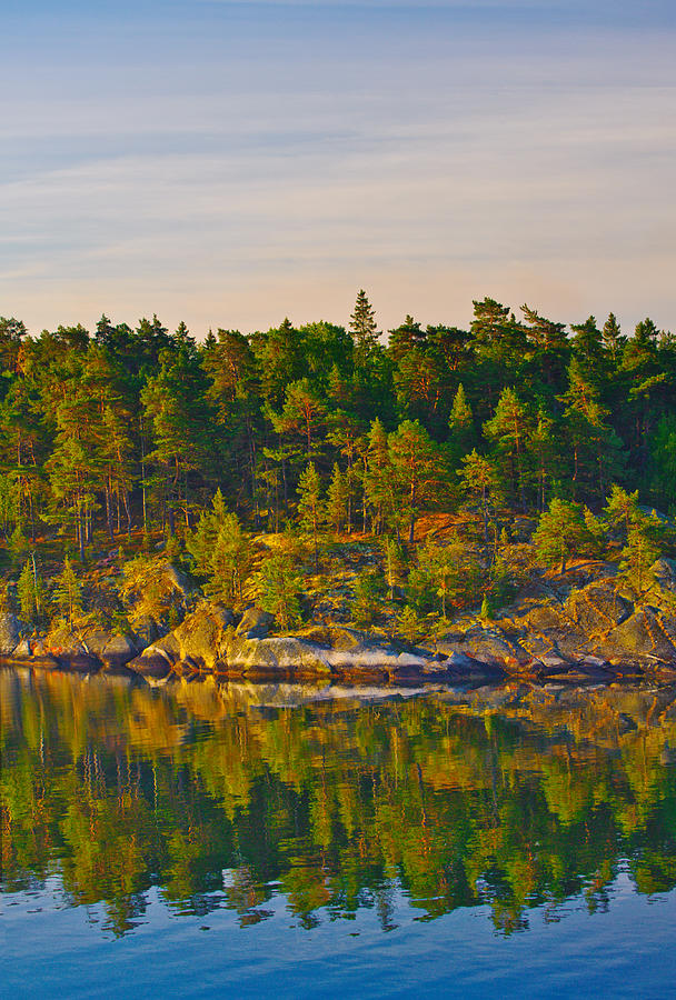 Baltic Sea Photograph - Reflections 2 Sweden by Marianne Campolongo