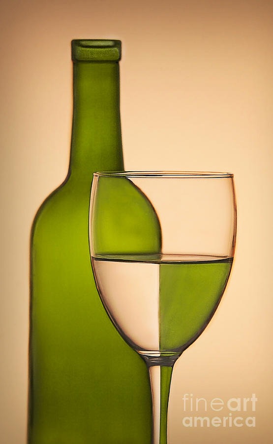 Bottle Photograph - Reflections And Refractions by Susan Candelario