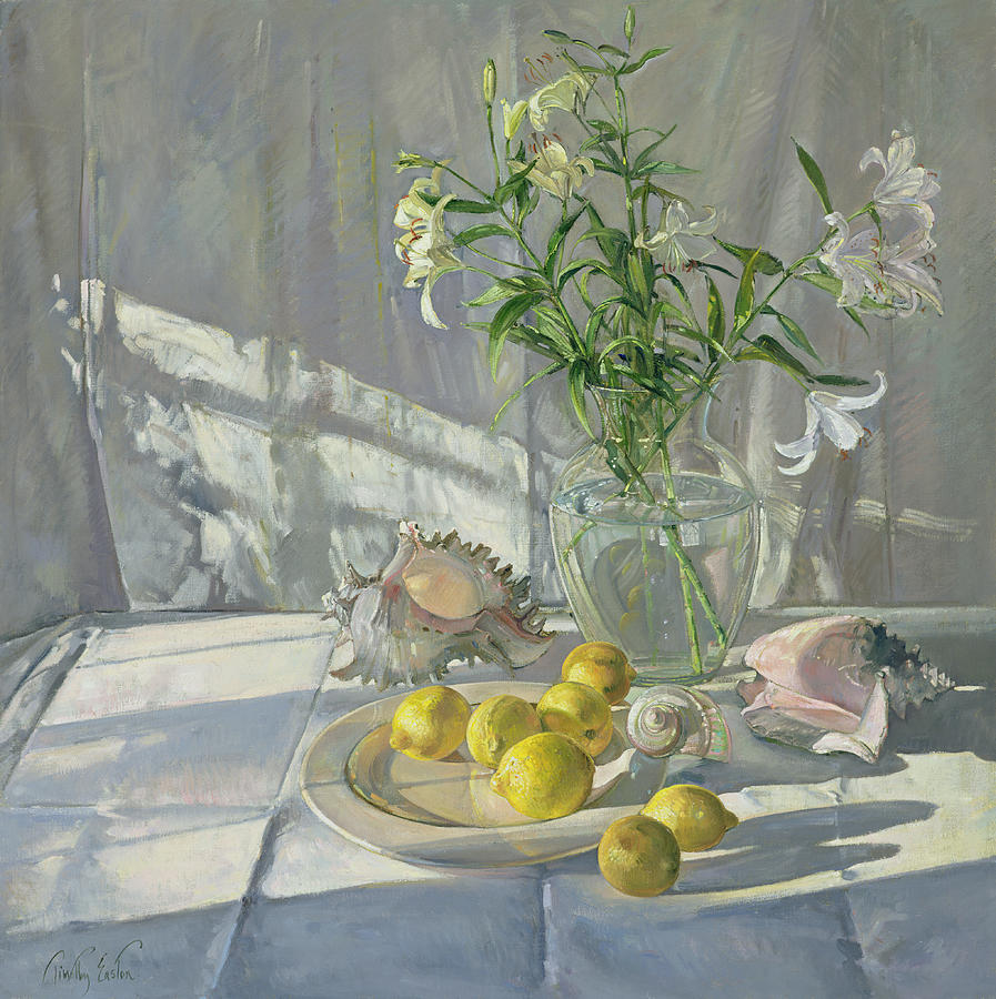 Still-life Painting - Reflections And Shadows  by Timothy  Easton