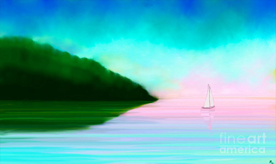 Painting Painting - Reflections by Anita Lewis