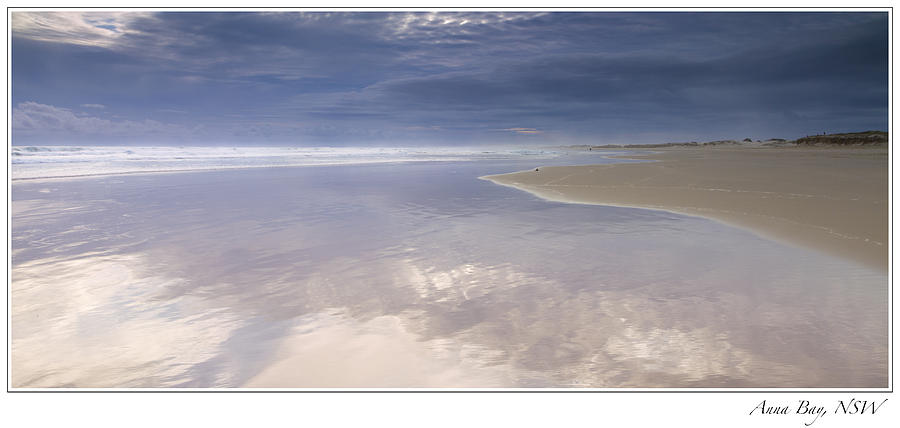 Sunrise Photograph - Reflections At Anna Bay by Steve Caldwell