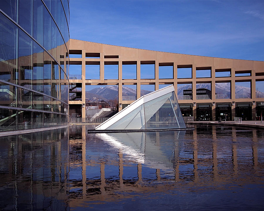 Salt Lake City Photograph - Reflections At The Library by Rona Black