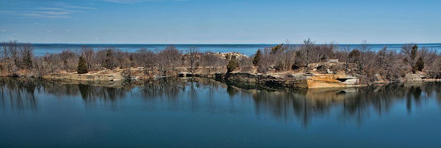 Quarry Photograph - Reflections at the Quarry by Nancy De Flon