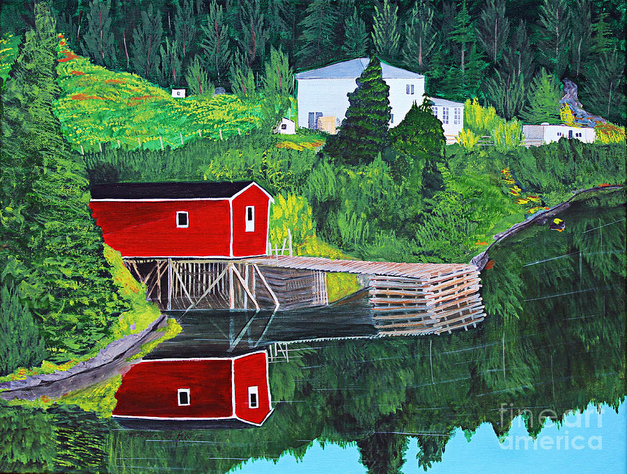 Reflections Painting - Reflections by Barbara Griffin