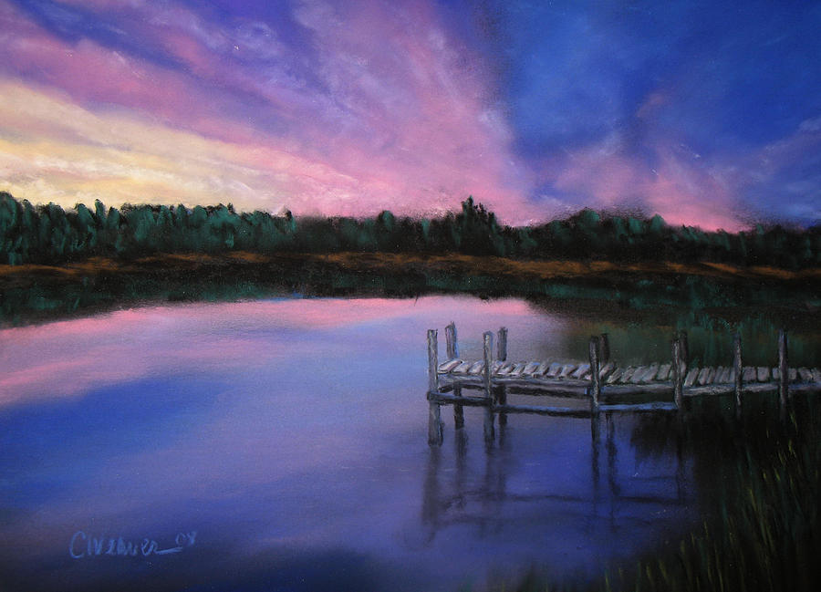 Landscape Pastel - Reflections by Cathy Weaver