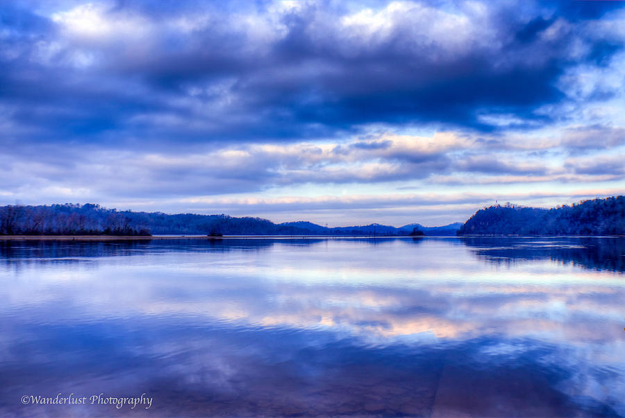Reflections Photograph - Reflections In Blue by Paul Herrmann