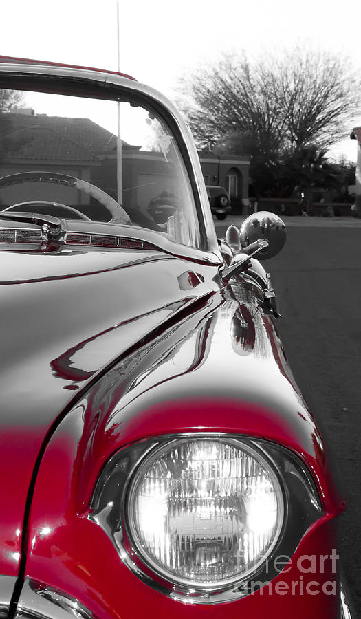 Cadillac Photograph - Reflections In Red by Patty Descalzi