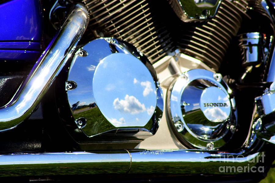 Honda Motorcycle Photograph - Reflections In The V Twin by Patti Whitten