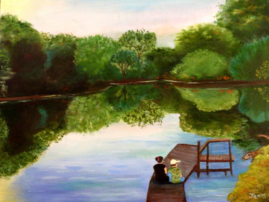 Pond Painting - Reflections by Janis  Tafoya