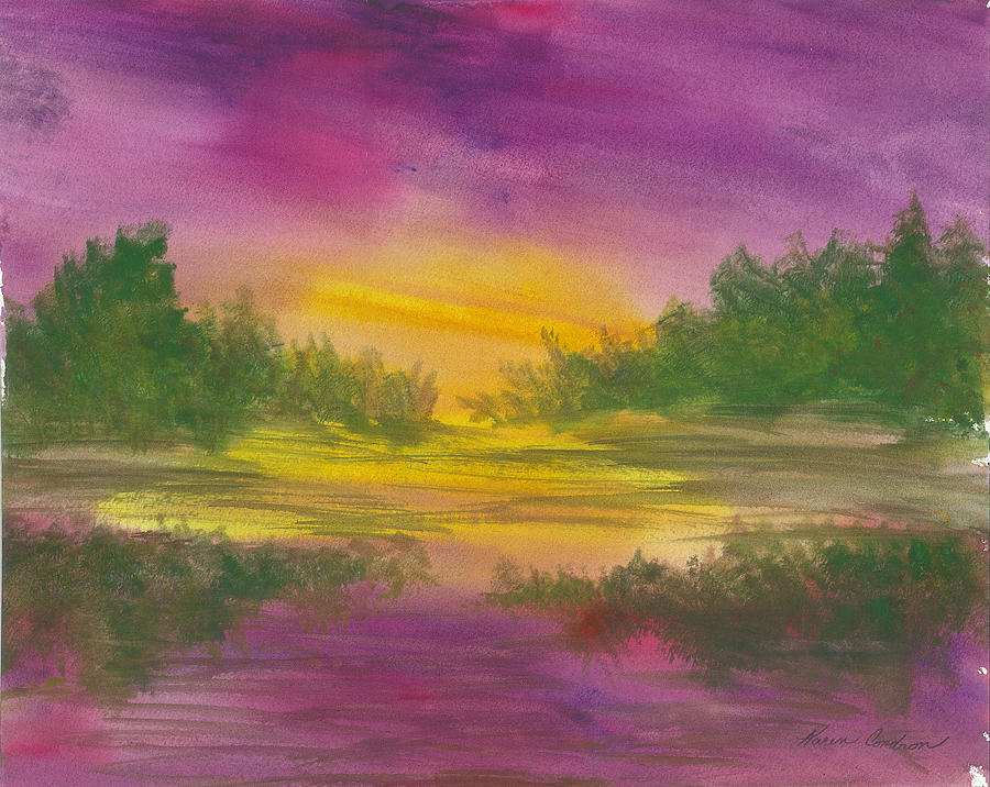Reflections Painting by Karen  Condron