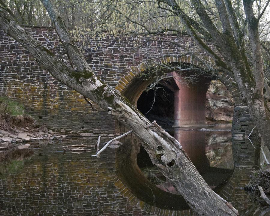Bridge Photograph - Reflections by Leslie Cruz