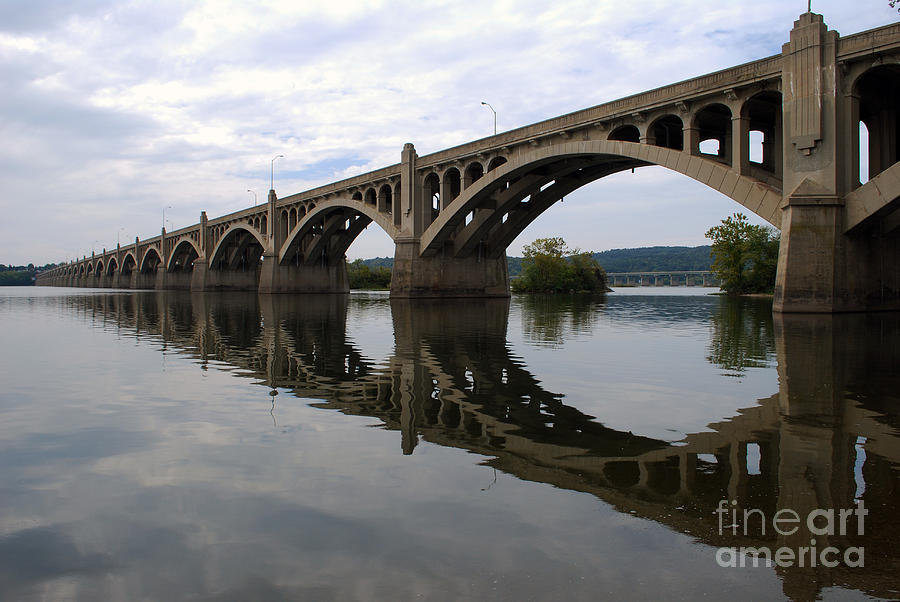 Bridge Photograph - Reflections Of A Bridge by Scott D Welch