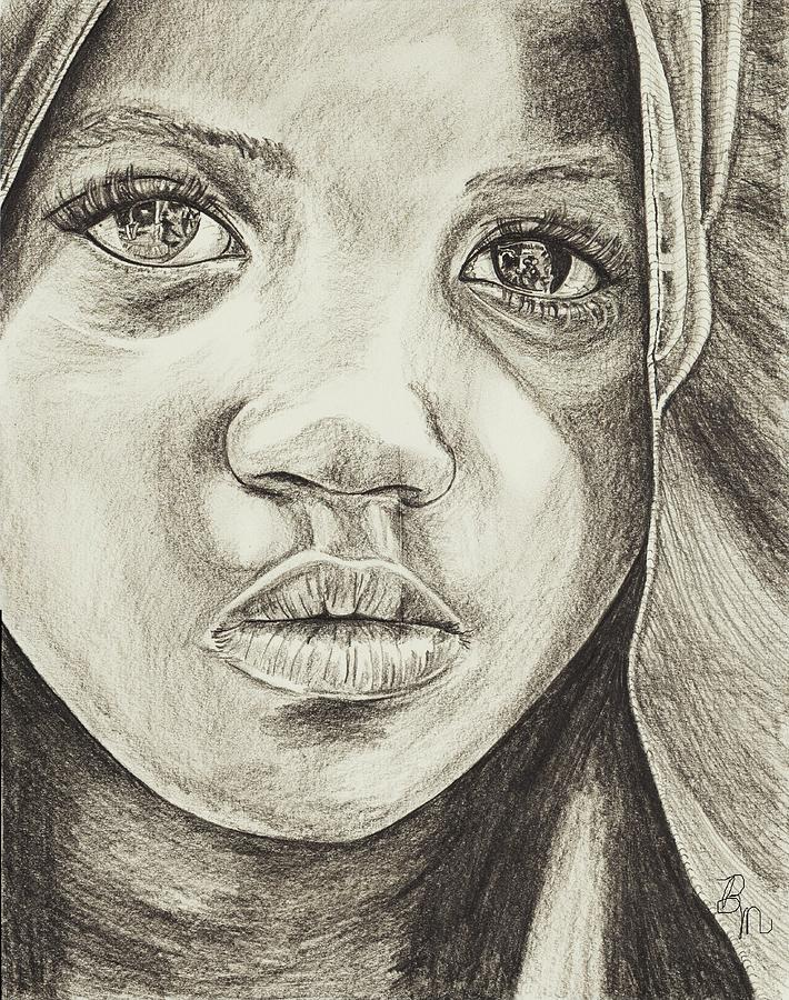 Girl Drawing - Reflections Of A Soul by Beverly Marshall