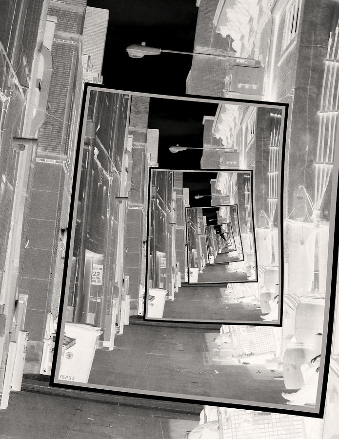 Infrared Photograph - Reflections Of An Infrared Alley by Phil Perkins