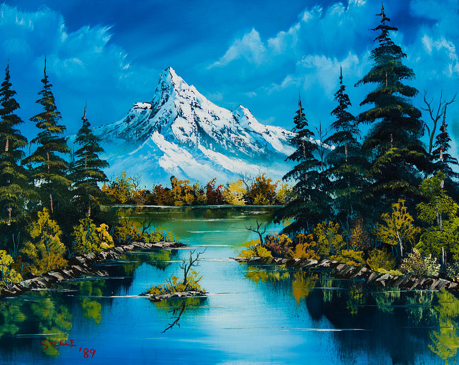 Landscape Painting - Reflections of Fall by Chris Steele