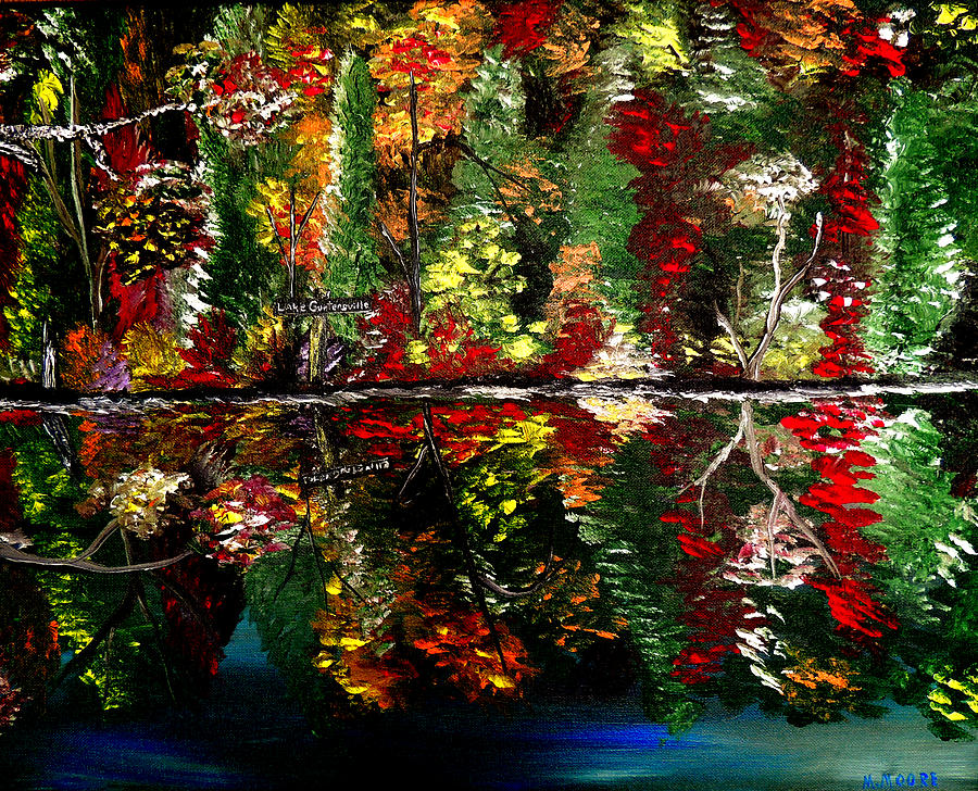 Fall Painting - Reflections Of Fall by Mark Moore