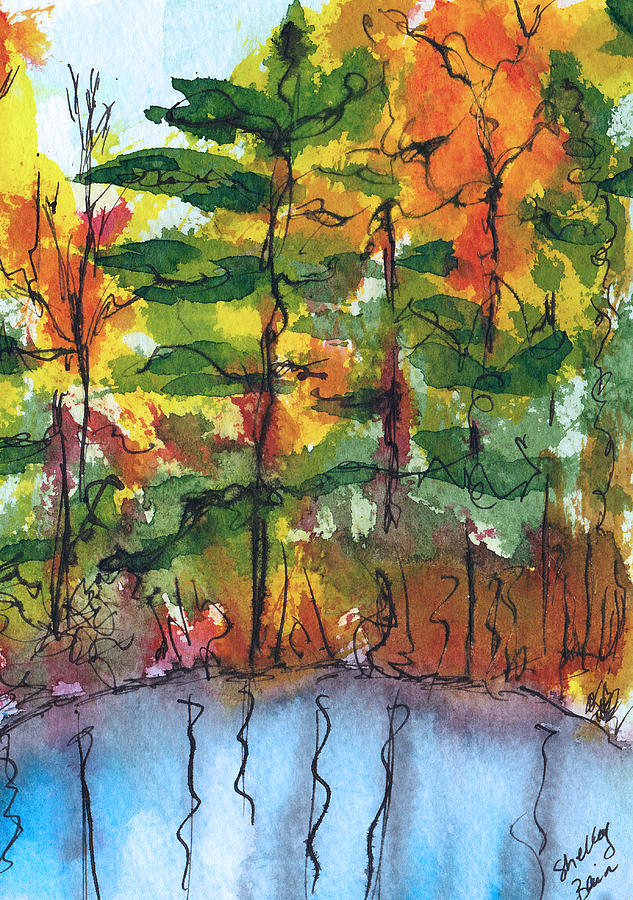 Fall Painting - Reflections Of Fall by Shelley Bain