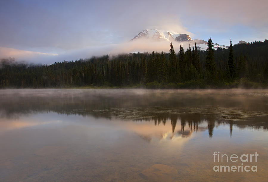 Mt. Rainier Photograph - Reflections Of Majesty by Mike  Dawson