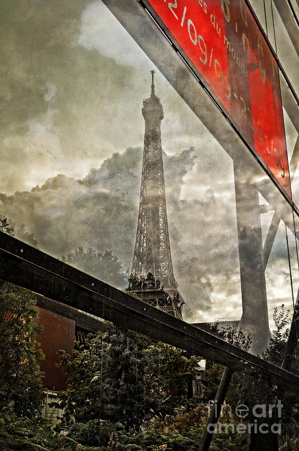 Sign Photograph - Reflections Of Paris by Mary Machare