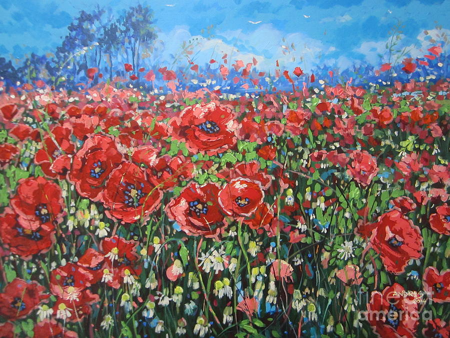 Poppies Painting - Reflections Of Passion by Andrei Attila Mezei