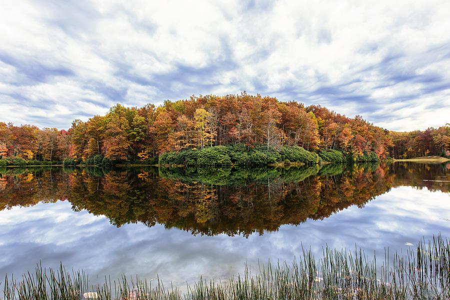 Boley Photograph - Reflections On Boley Lake Wv by Dick Wood