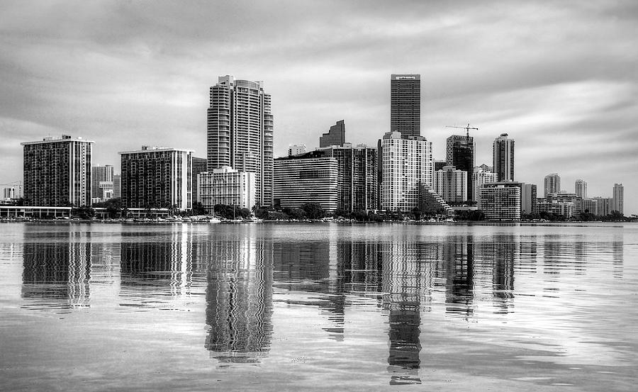 Miami Photograph - Reflections On Miami by William Wetmore