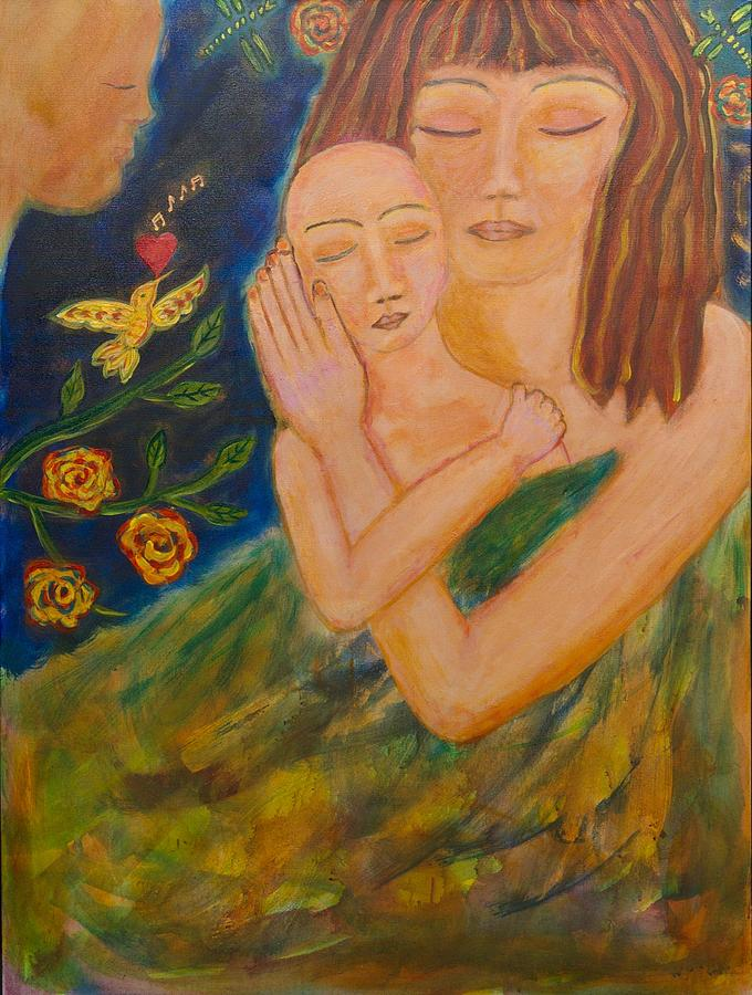 Mother Painting - Reflections On Motherhood by Havi Mandell
