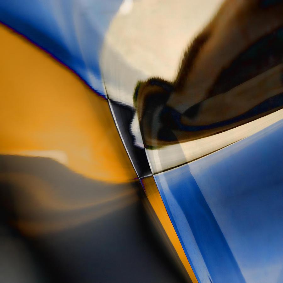 Abstract Photograph - Reflections On Porsche No. 1 by Carol Leigh