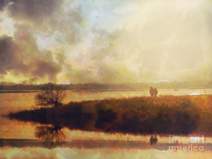 Impressionist Painting - Reflections by Pixel Chimp