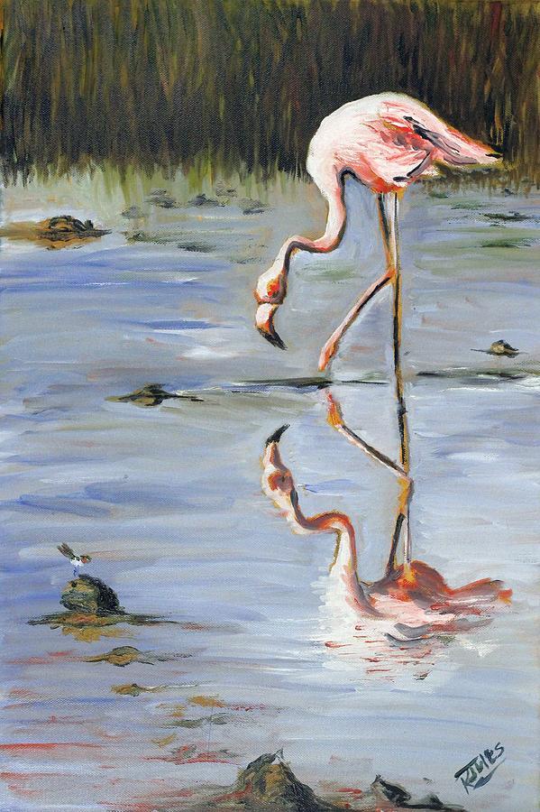 Bird Painting - Reflections by Richard Jules
