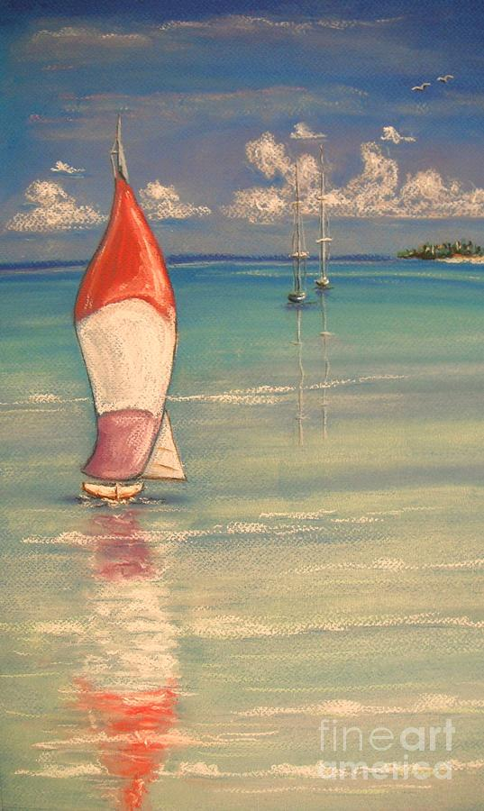 Tropical Painting - Reflections by The Beach  Dreamer