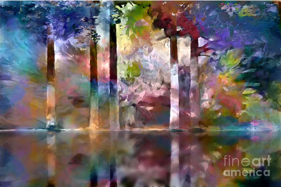 Ursula Freer Digital Art - Reflections by Ursula Freer