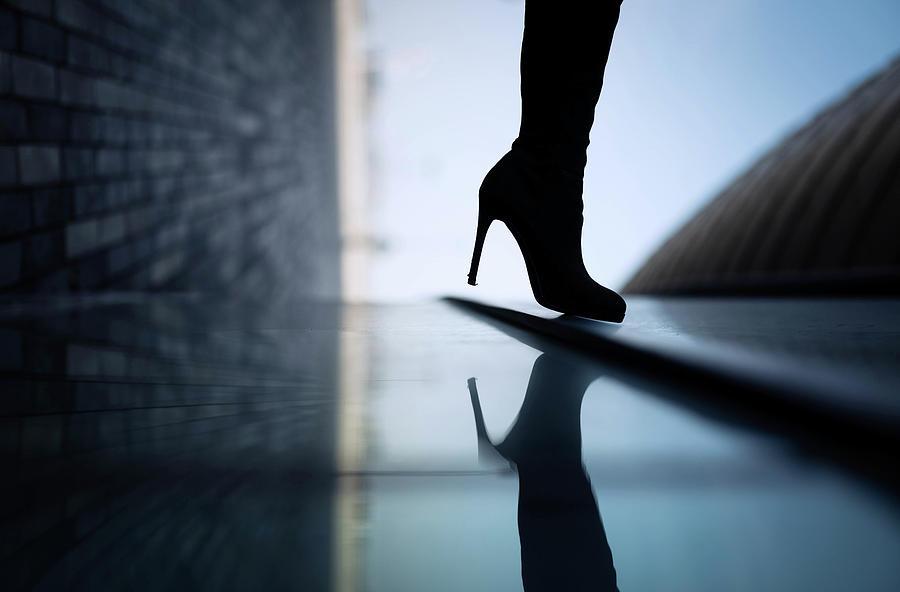 Shoe Photograph - Reflections by Yuri Shepelev