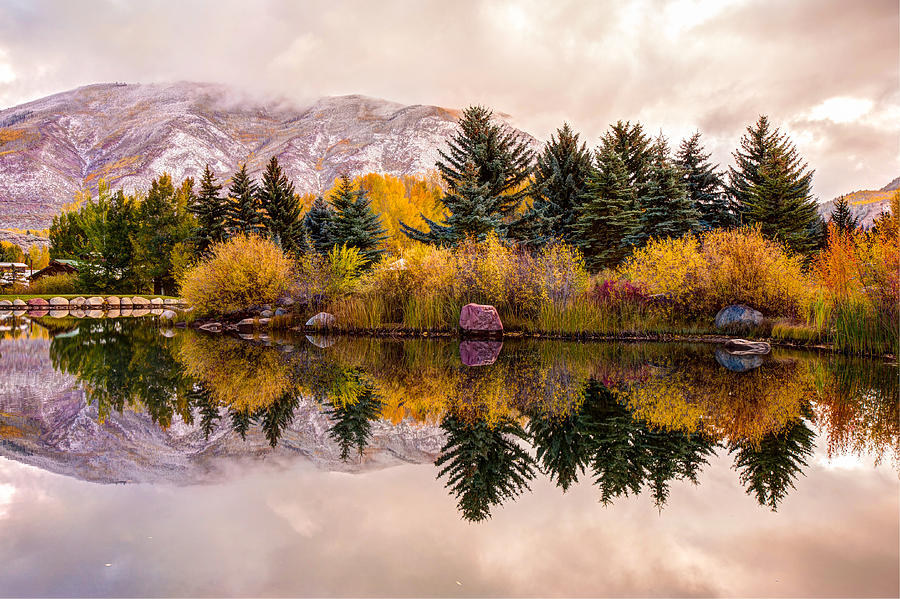 Reflective Morning - Aspen Colorado by Gregory Ballos