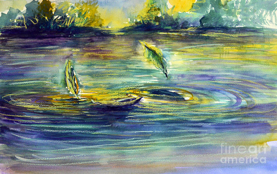 Reflective Ripples Painting
