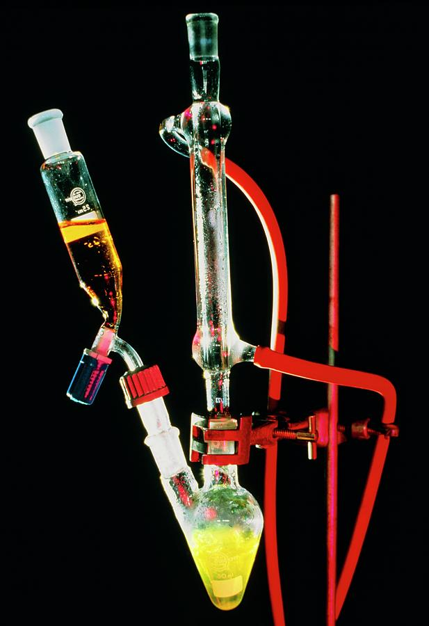 Chemistry Photograph - Reflux Apparatus To Boil Reaction Mixture by David Taylor/science Photo Library