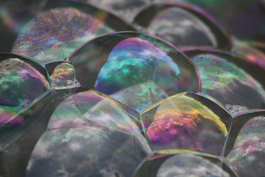 Bubble Photograph - Refraction by Cathie Douglas
