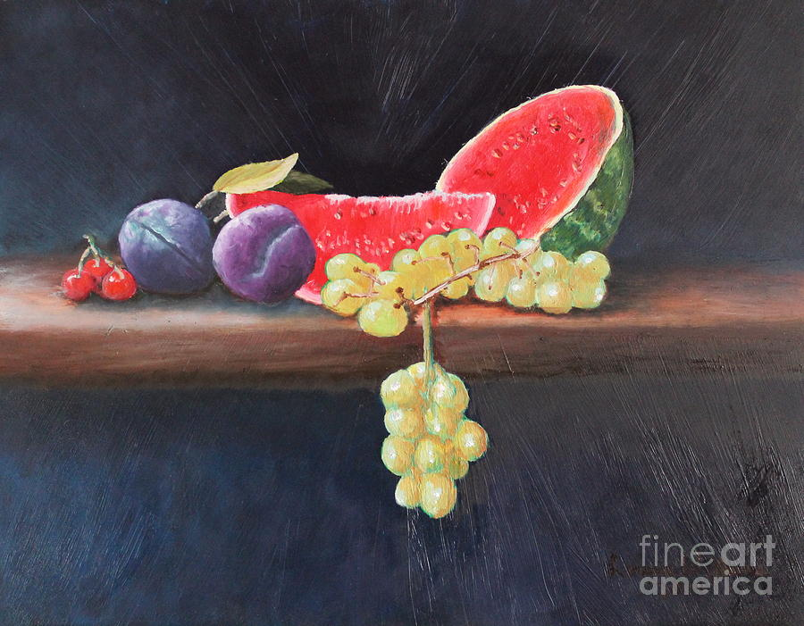 Still Life Painting - Refreshing Southern Delight  by Louise Williams