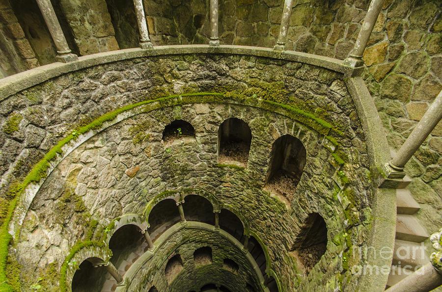 Sintra Photograph - Regaleira Initiation Well 3 by Deborah Smolinske