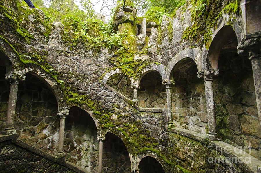 Sintra Photograph - Regaleira Initiation Well 4 by Deborah Smolinske