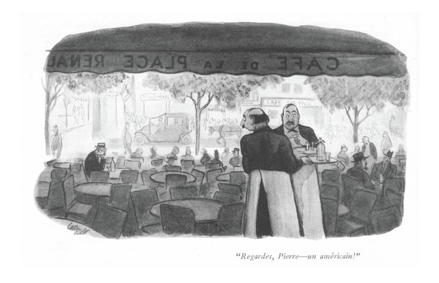 Regardes, Pierre Drawing by Carl Rose