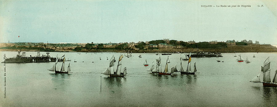 France Photograph - Regatta Day At Dinard, Brittany, France by Mary Evans Picture Library