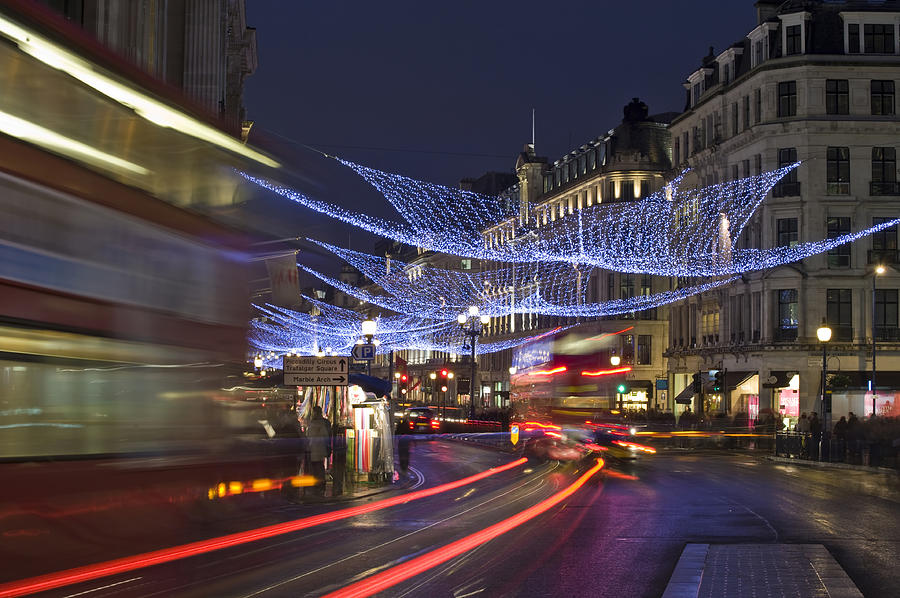 Regent Photograph - Regent Street Lights by Matthew Gibson