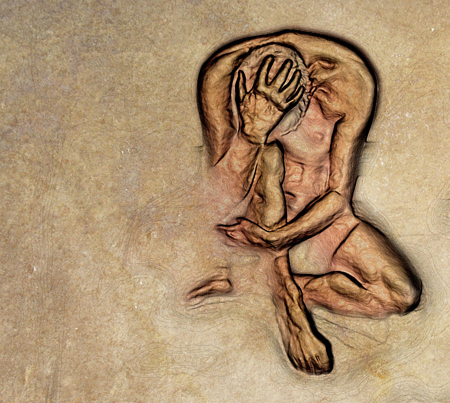 Nude Digital Art - Regret by Ready Mades