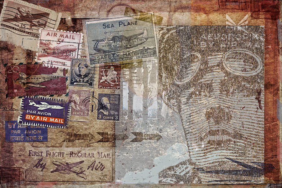 Post Card Photograph - Regular Mail By Air by Carol Leigh