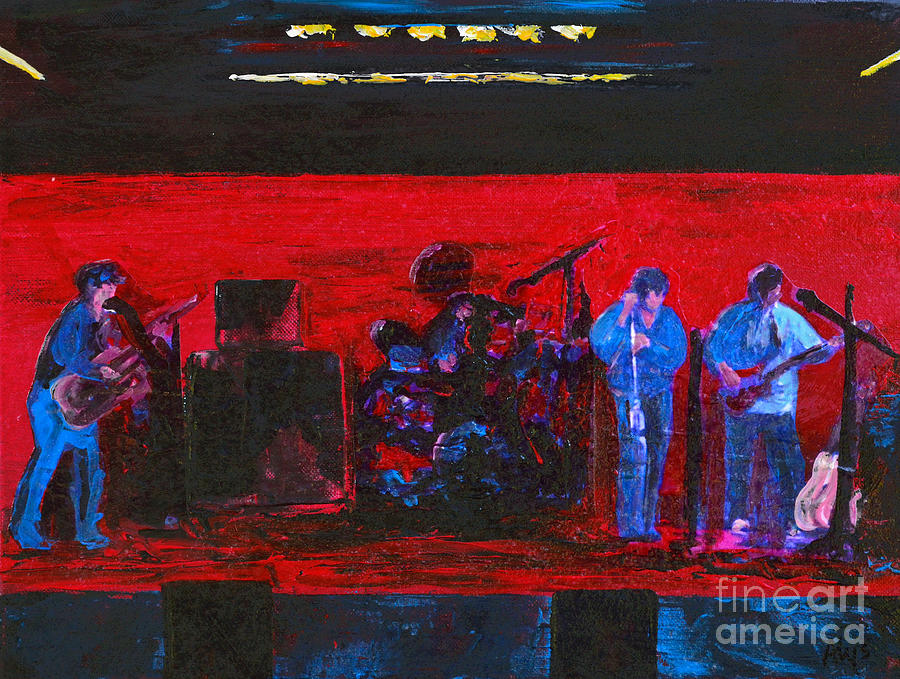 Band Practice Painting - Rehearsal by Alys Caviness-Gober