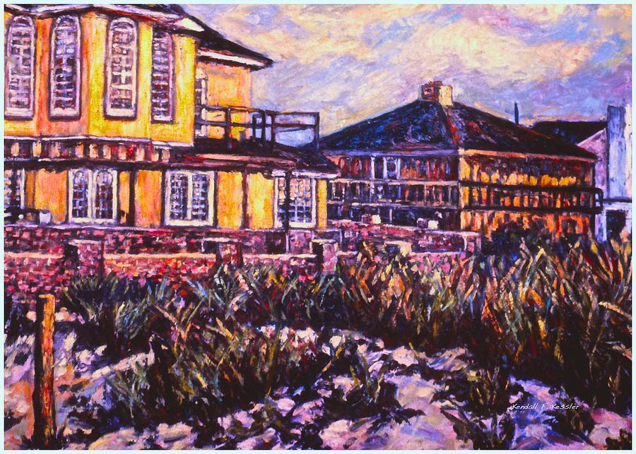 Landscape Painting - Rehoboth Beach Houses by Kendall Kessler