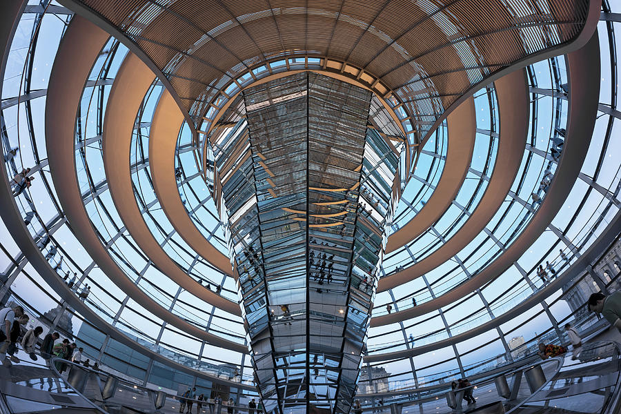 Reichstag, Dome At Dusk Photograph by Siegfried Layda